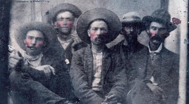 Rareté : Pat Garrett et Billy the Kid sur la même photo... 16xp-b10