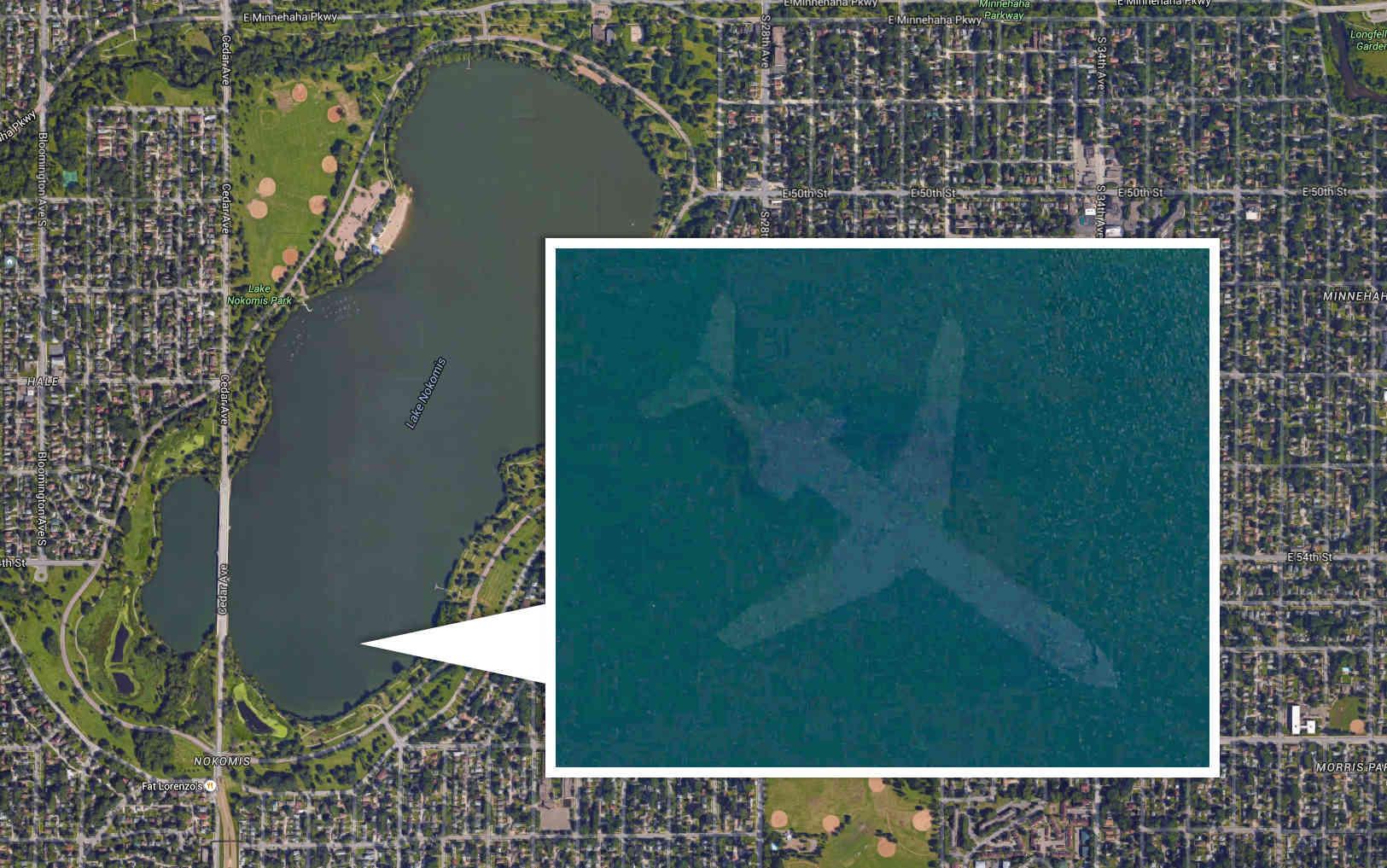 Le mystérieux avion au fond du Lac Harriet, Minnesota, USA A136