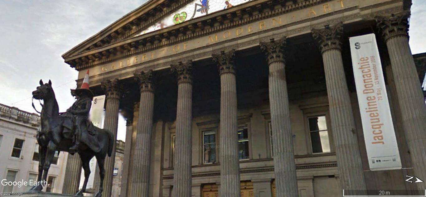 Street View  : Statue équestre duc de Wellington Glasgow Ecosse A145