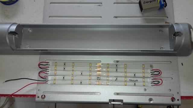 Passage reglette fluo en LED 20180311