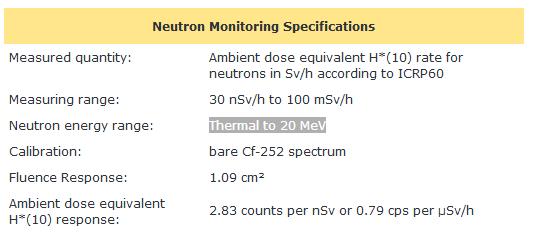 Balise portative neutron & facteur de pondération 210