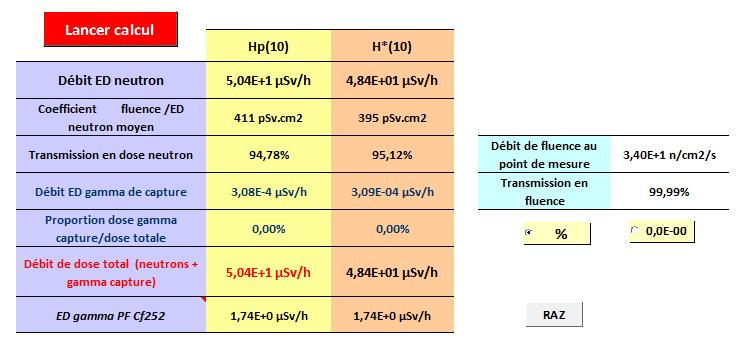 Balise portative neutron & facteur de pondération 610