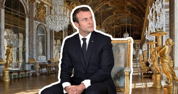 Macron investit Versailles Macron11