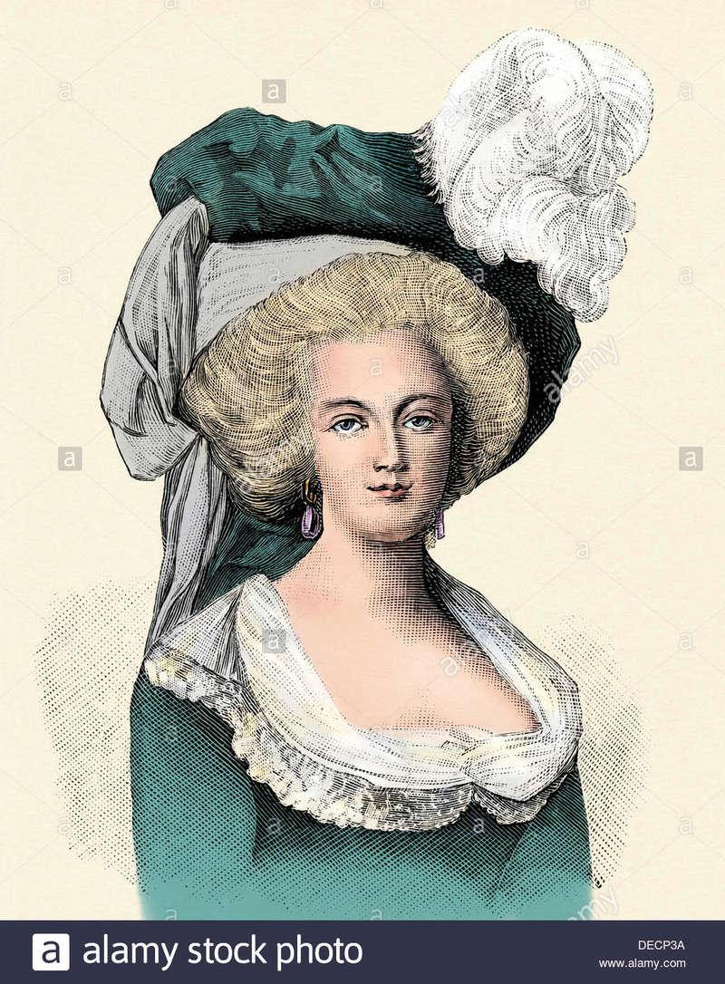 Marie-Antoinette au livre en robe bleue - Page 3 Marie-12