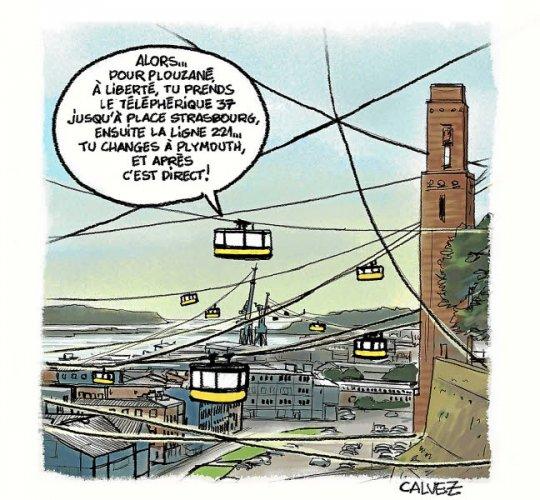 Brest. Un ascenseur urbain avant un second téléphérique ? Brest-11