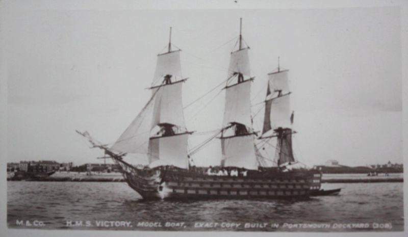 Clichés du HMS Victory sous voiles Victor17