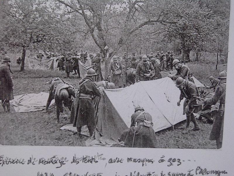 Montage de tentes avec port du masqe à gaz Bois_s14