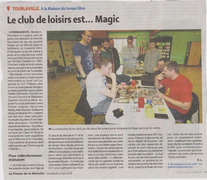Article presse de la manche sur le club Articl11
