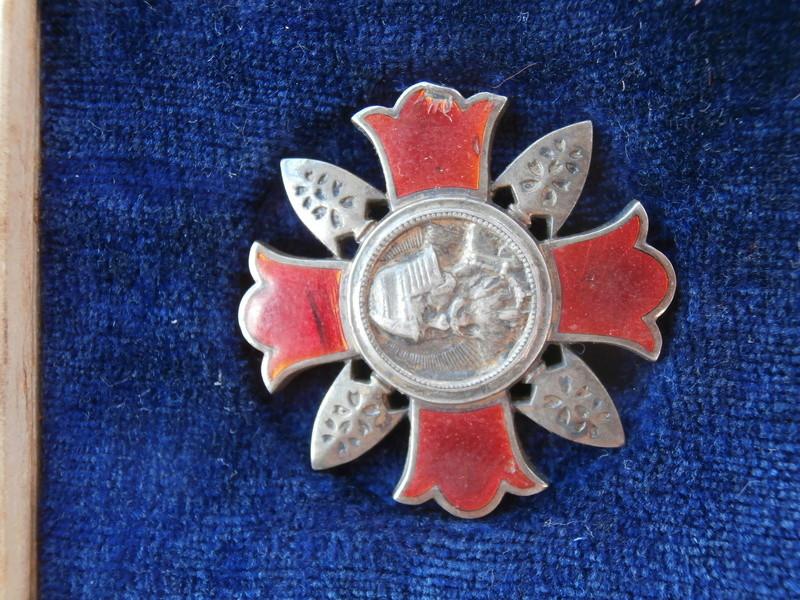 badge des blessés en écrin P9020213