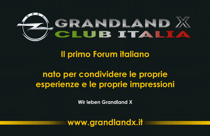 """Biglietto da visita """"Opel Grandland X Club Italia"""" Biglie10"""