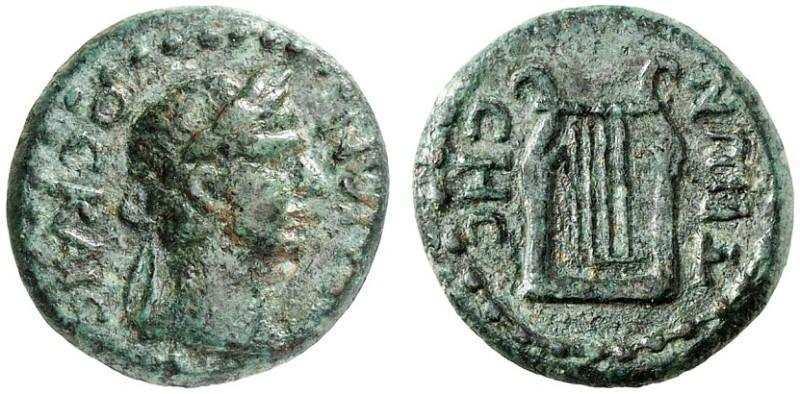 AE16 provincial de Vespasiano. Lira. Ceca Sestos (Tracia). Rpc_0310