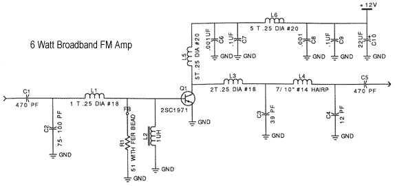 Valor para condensador bypass, en paso de señal Amp6ws10