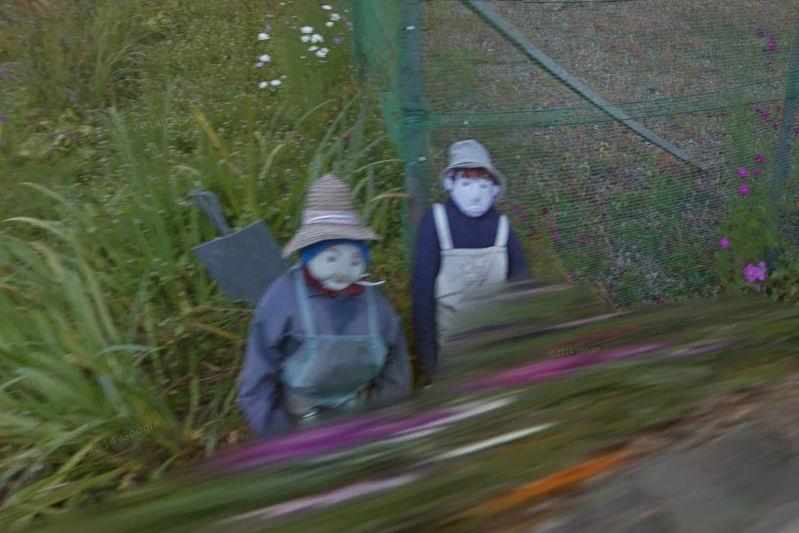 STREET VIEW : Nagoro, Japon. Le village des poupées de chiffon. Nagoro10