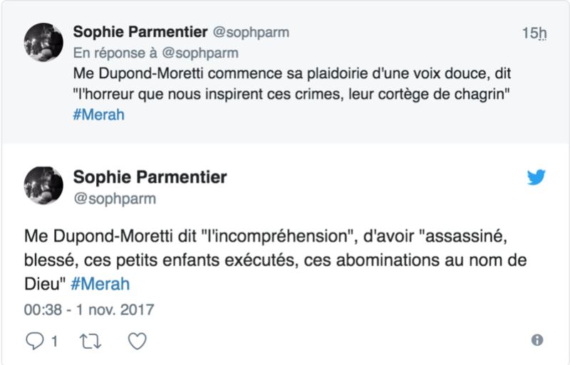 """Me Dupond-Moretti : """"J'affirme que si Abdelkader Merah est dans le box, c'est que son frère est mort"""" 115"""