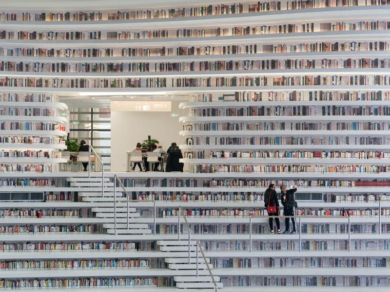 En Chine, on vient d'ouvrir la bibliothèque la plus dingue de l'univers Biblio10