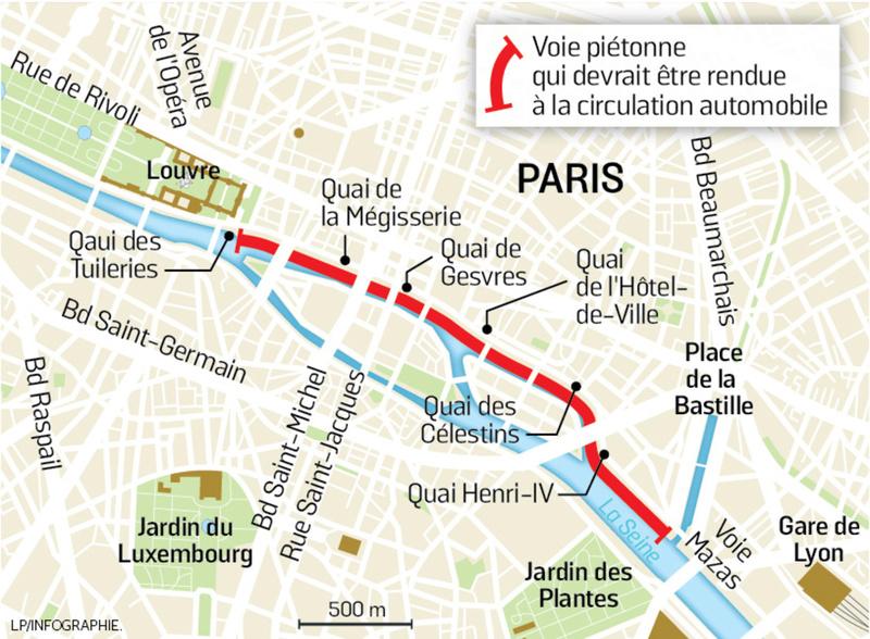 Paris va prendre un nouvel arrêté de piétonnisation Voie10