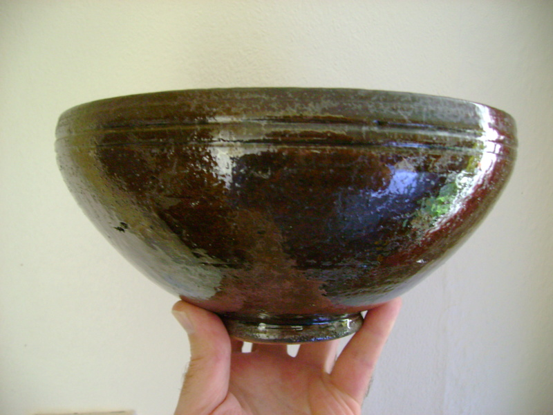 Studio pottery bowl, unknown maker, possibly Scandinavian. Dsc05123