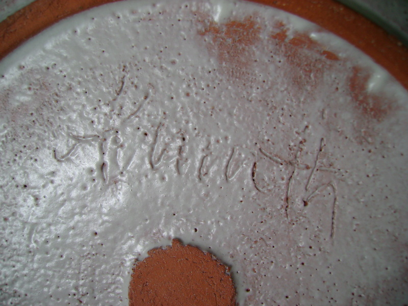 Earthenware bowl, 1985, indistinct mark, possibly Penrith, possibly not. Dsc06311