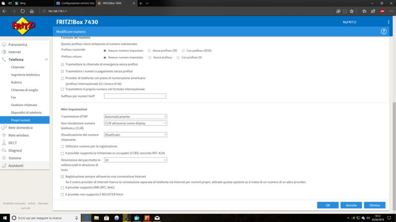 Configurazione servizio Voip Planetel su Fritz!box 7430 - Pagina 2 Screen11