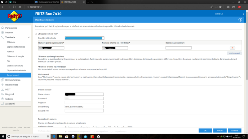Configurazione servizio Voip Planetel su Fritz!box 7430 - Pagina 2 Screen12