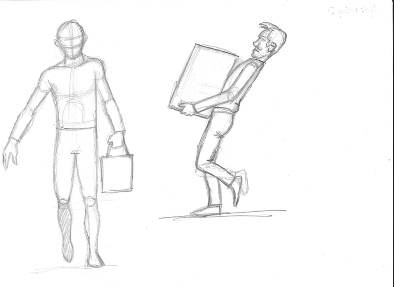 Croquis postures Charge10