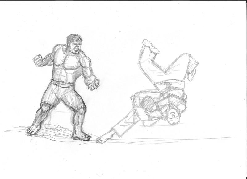 Croquis postures - Page 2 Hulk_j10
