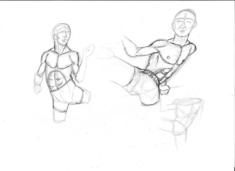 Croquis postures - Page 2 Karate10