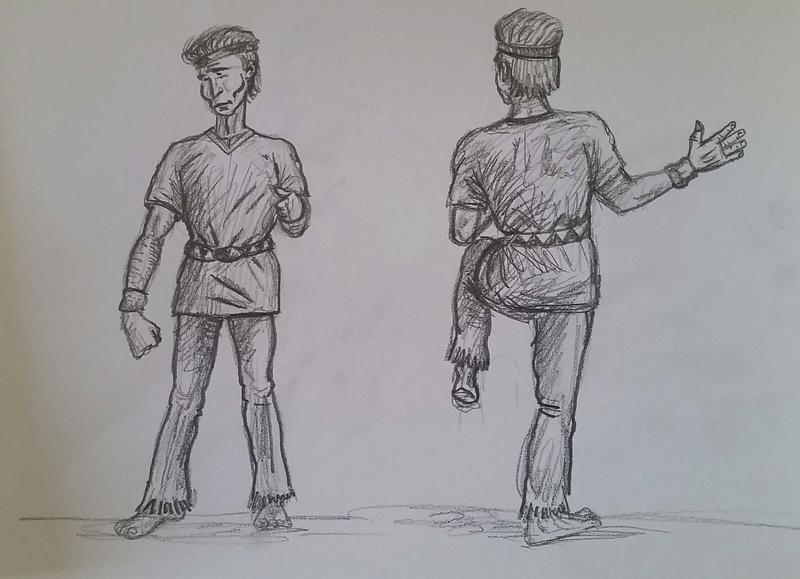 Croquis postures - Page 4 Karate11