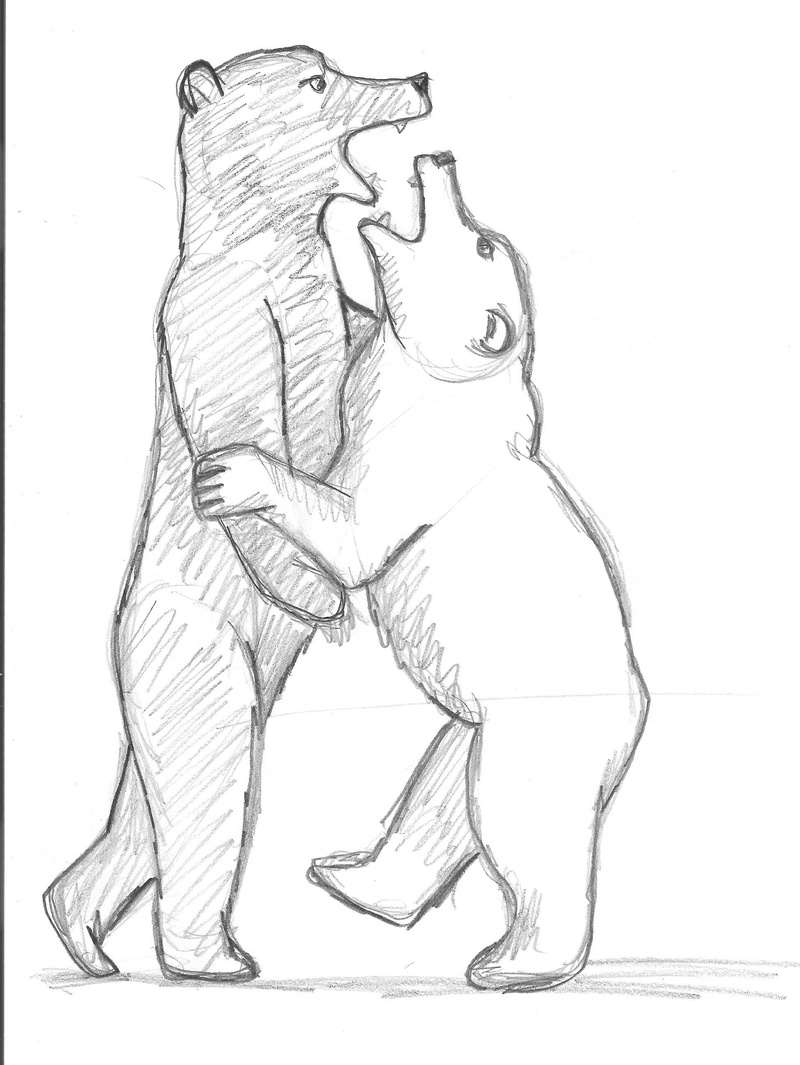 Croquis postures Ours10