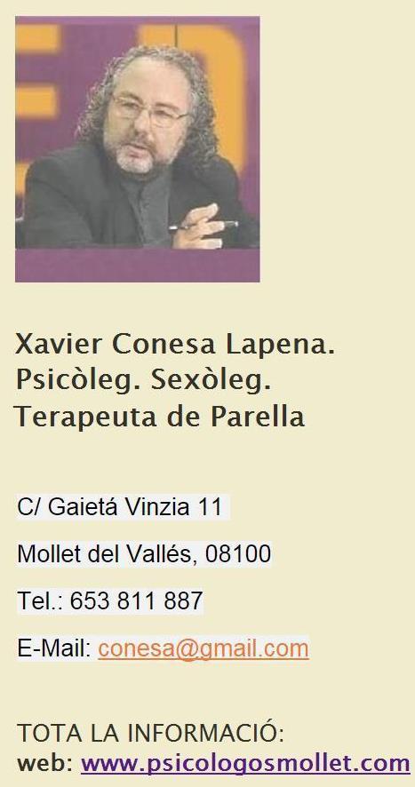 Consejero Matrimonial Mollet, Granollers, Comarca del Valles, Barcelona Conesa10