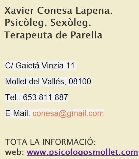 Terapia de Pareja Granollers, Mollet, Barcelona Psicol10