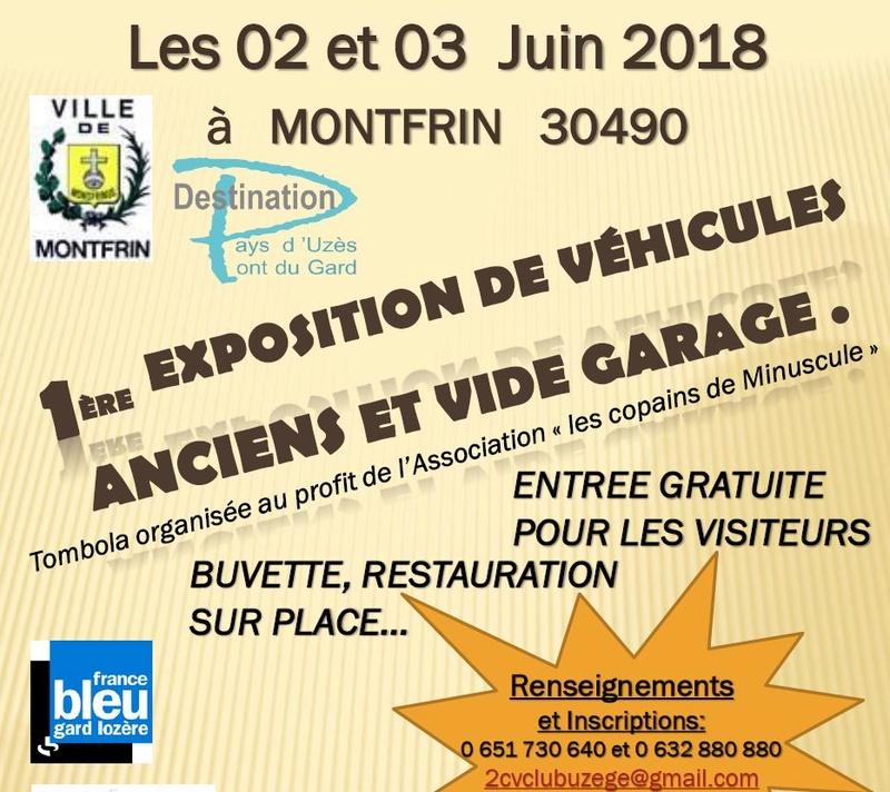 30 - MONTFRIN : 1ère exposition de véhicules anciens 2 et 3 Juin 2018 2018_m10