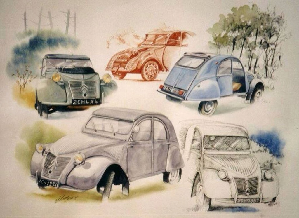 Citroën en dessin 2665