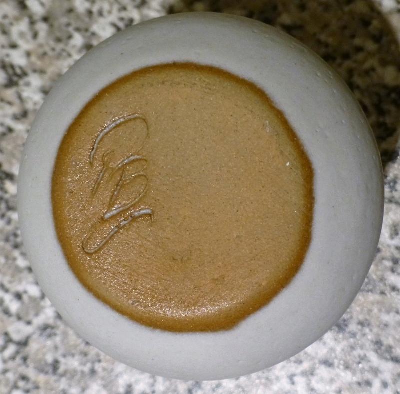 Lovely Bud Vase Glazed Top PB P1130312