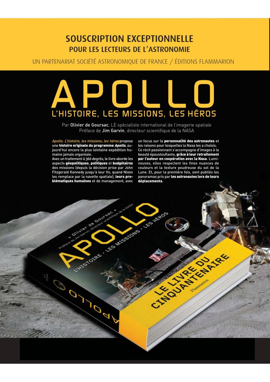 Apollo, Le livre du cinquantenaire par Olivier de Goursac Souscr10