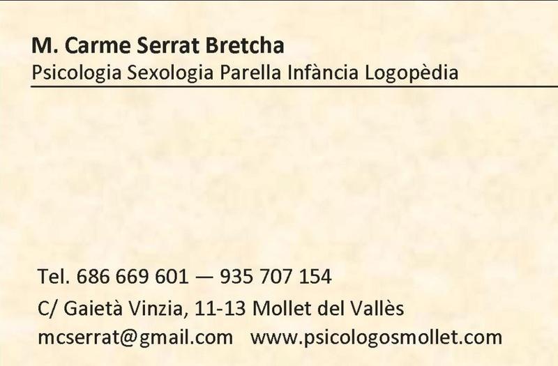 A Mollet del Vallès. Psicòlegs - Sexòlegs - Teràpia de Parella Tarjam10