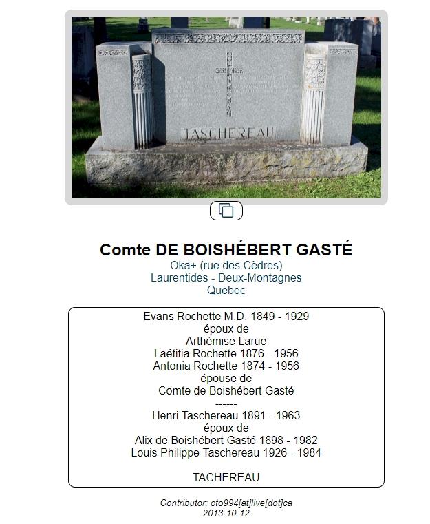 Qui était le comte Roger de Boishébert de Gasté? Pierre10