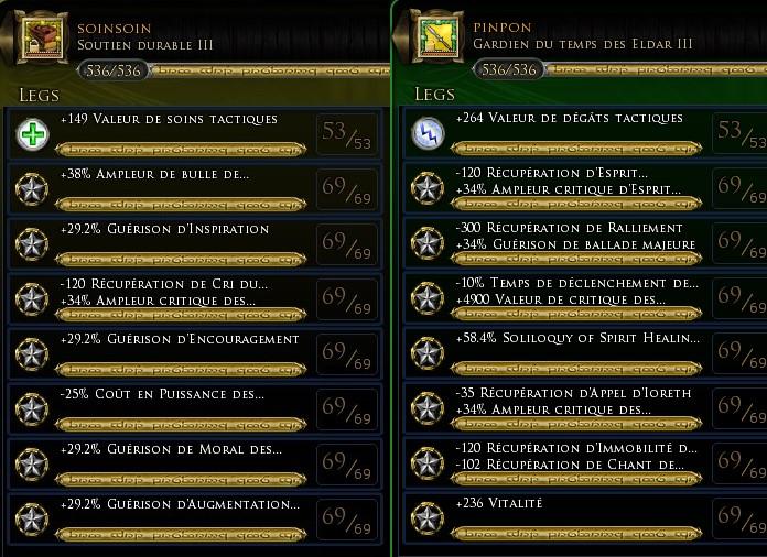 """Menestrel heal """"vereda"""" traits et équipements Lygend12"""