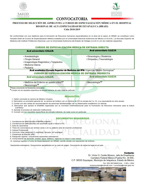 HRAEI IXTAPALUCA RESIDENCIA  Convoc11