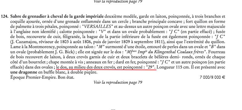 Sabre Grenadier a Cheval Garde Imperiale  - Page 2 Sabre_10