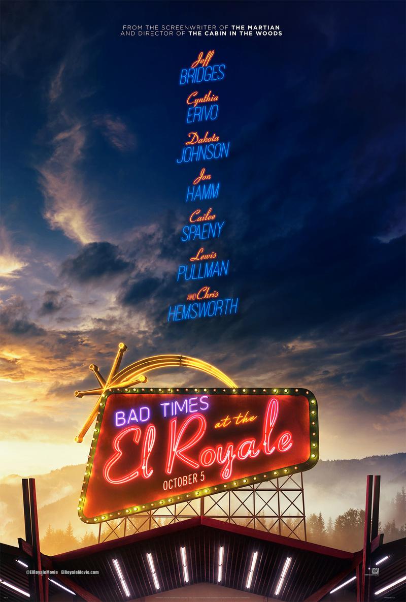 Bad Times at the El Royale (Hemsworth / Bridges / Johnson / Hamm) (October 5th) Bad-ti10