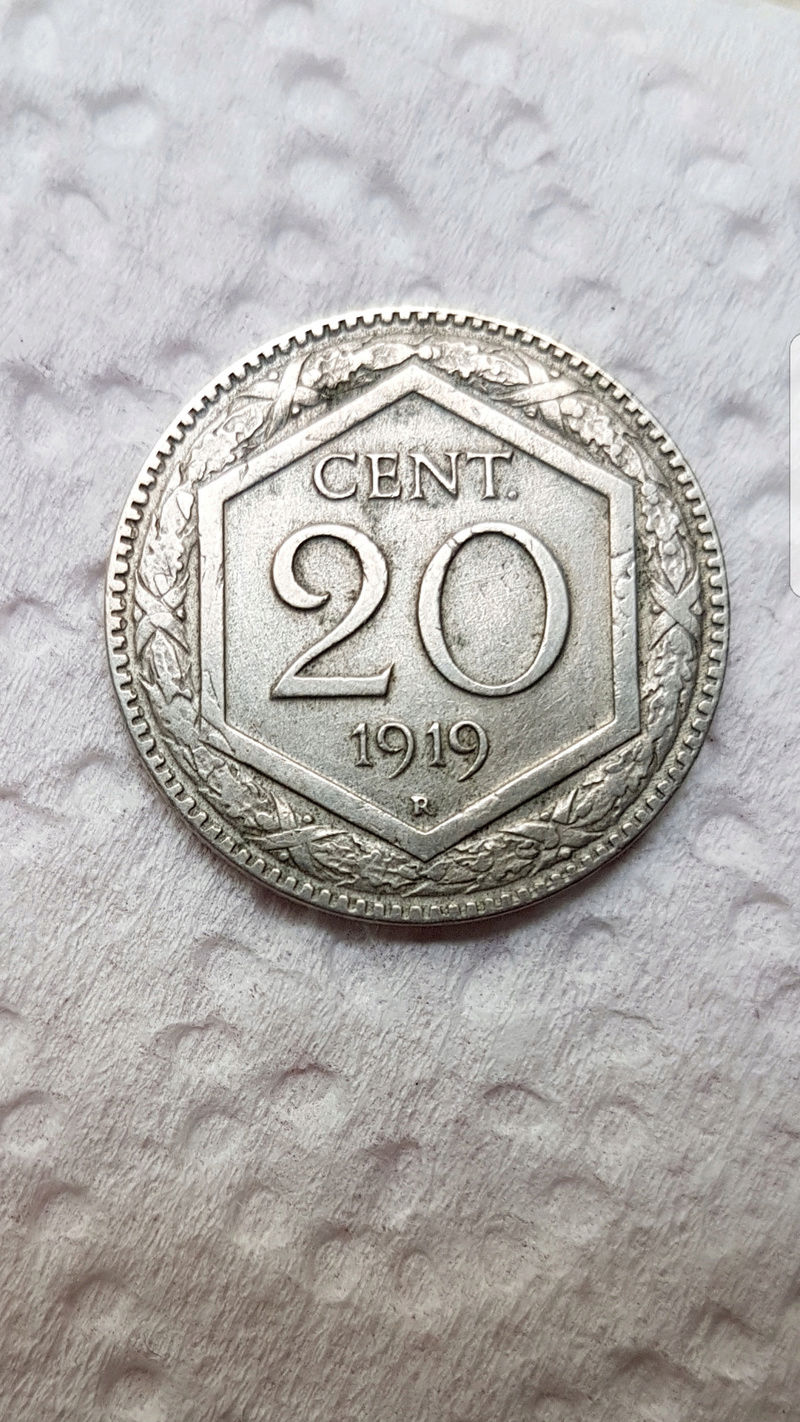 20 Céntimos de Lira. Italia (1919) Screen21