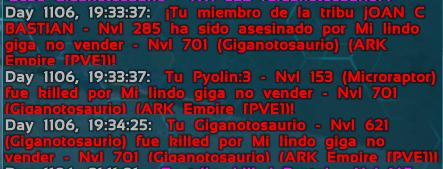 Tribu ARK Empire PVE mata dinos en Pasivo a Tribu Los Sobrevivientes Sin_ty10