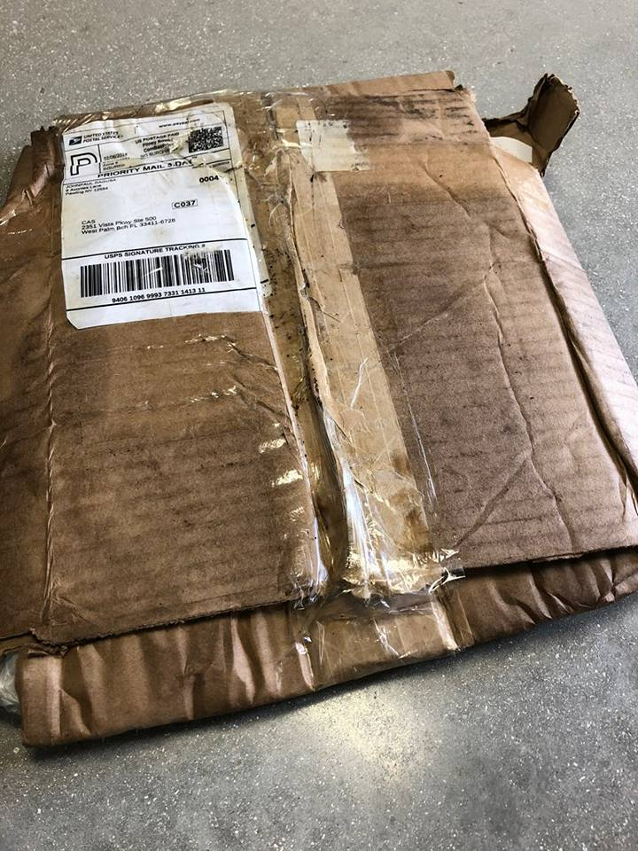 USPS made a pancake of my mailed box 29103910