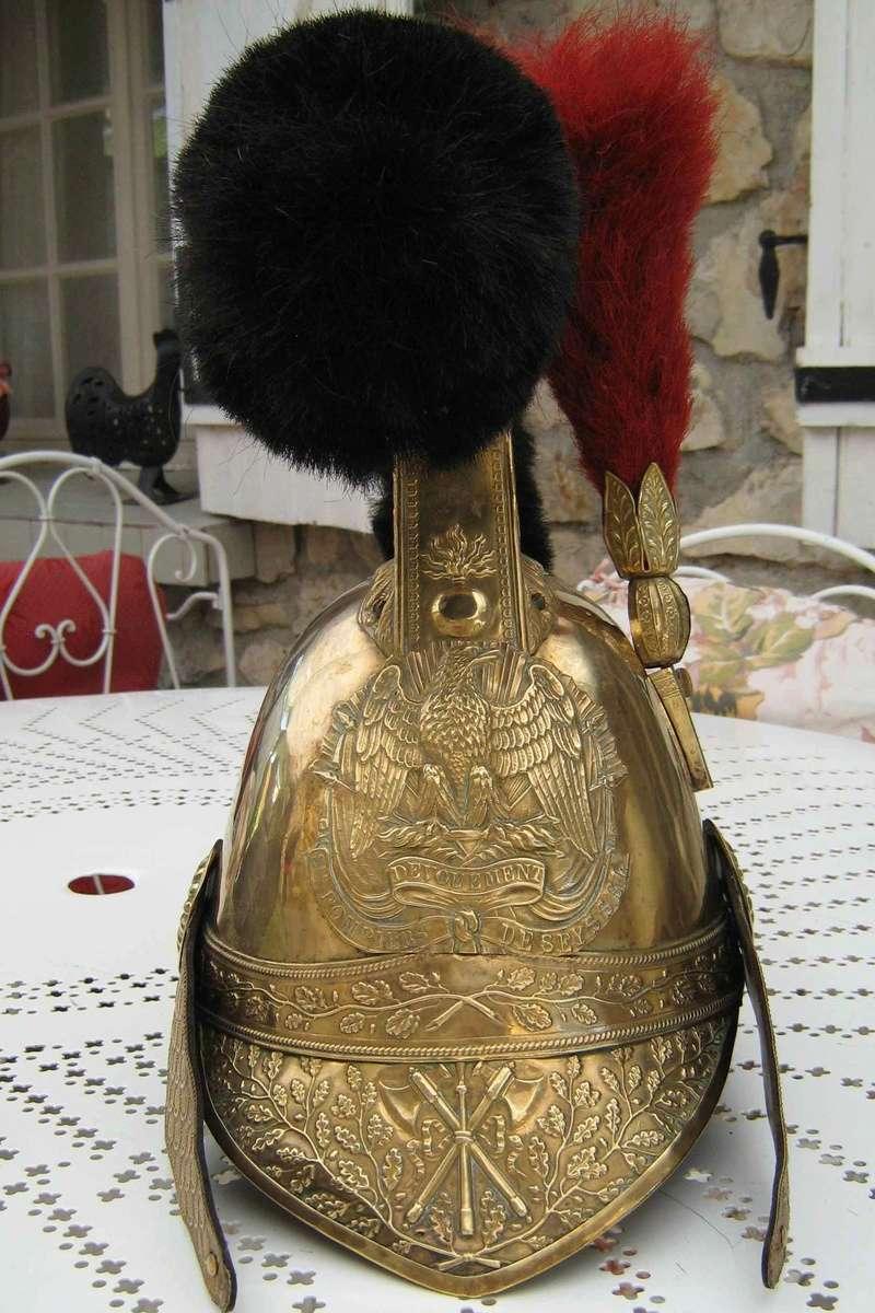 ancien casque de pompier Pompie19