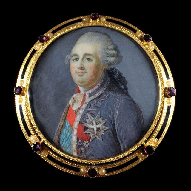 Miniatures représentant la famille royale Louis-10