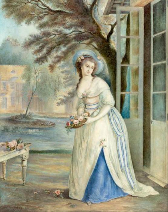 Marie-Antoinette au hameau du Petit-Trianon ? Zzz9-416