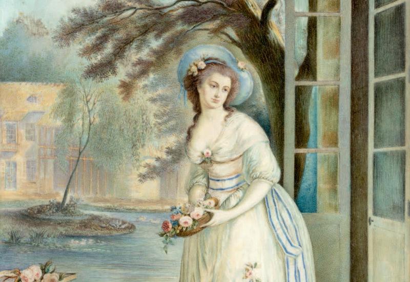 Marie-Antoinette au hameau du Petit-Trianon ? Zzz9-417
