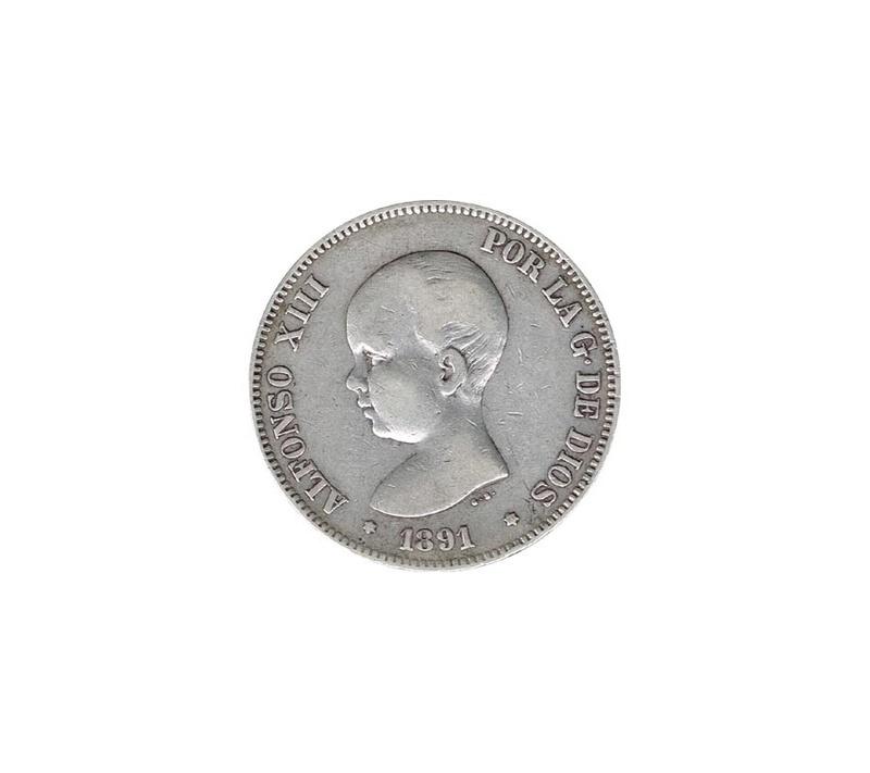 5 Ptas 1891 Alfonso XIII 5peses10