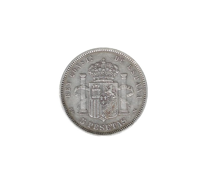 5 Ptas 1891 Alfonso XIII 5peses11